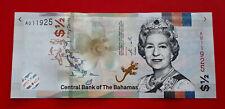 Billet BAHAMAS 1/2 $ - 50 Cent Dollar Elisabeth II 2019