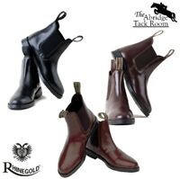 Rhinegold Adults Classic Leather Jodhpur Boots (sizes 6 – 11) **FREE P&P**