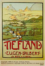 "1908 Original OPERA 1st English EUGENE D'ALBERT Score ""TIEFLAND"" Luxury EDITION"