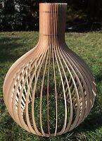 Schirmleuchte Deckenlampe  Holzleuchte  XXL  Pendelleuchte Design  Neu Modern