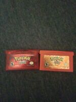 Pokemon Ruby And FireRed Lot Set Nintendo Gameboy Advance GBA Genuine Authentic