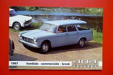 PEUGEOT 404 1967 Break Familiale  Brochure Prospekt Catalogue Dépliant