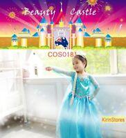 Disney Kids Girls Costume Party Princess Frozen Elsa Anna Fancy Dress COS181