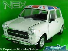 MINI COOPER 1300 MODEL CAR 1:24 SIZE WHITE WELLY OPENING PARTS UNION JACK LGE K8