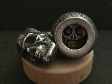 Momento Mori Spirit Box | Coin Ring Urn Style Box Hand Forged From 999 Silver