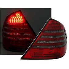 2 FEUX ARRIERE LED MERCEDES CLASSE E W211 2/2002 A 6/2006 FUME ROUGE CRISTAL