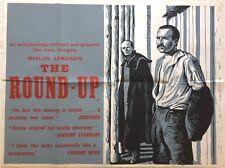 The Round-Up 1966 Original UK Quad Poster, Miklós Jancsó, Peter Strausfeld Art