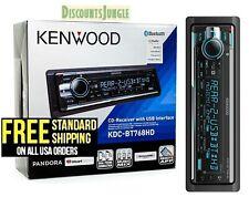 Kenwood Kdc-Bt768Hd 1-Din Car Stereo In-Dash Cd Mp3 Usb Receiver w/ Bluetooth