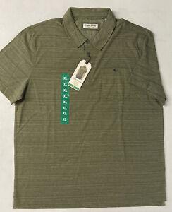English Laundry Mens Short Sleeve Green OLIVE CANVAS Polo Golf Shirt XL *Read