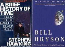 2 books: Brief History of Time + A Short History of Nearly Everything -Free Ship