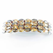 USA WOMENS BARRETTE use Swarovski Crystal Hair Clip Hairpin Elegant BROWN SW10