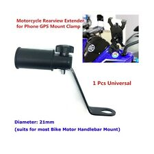 Moto GPS Phone Handle Bar Holder Extender Bracket Mount Clamp stainless steel