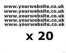 20 x Auto, Furgone, Finestra Adesivi SITO WEB, logo retro FINESTRA, PORTA, vetro, Caravan
