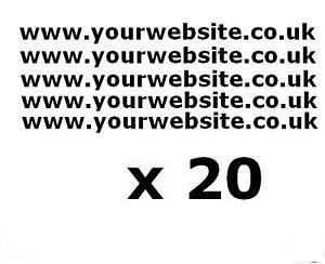 20 X CAR,VAN, WINDOW WEBSITE STICKERS,LOGO BACK WINDOW,DOOR,GLASS,CARAVAN