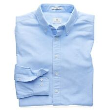 Gant Diamond G Perfect Oxford Fitted Shirt - RRP £80 - Capri Blue - 300002-468