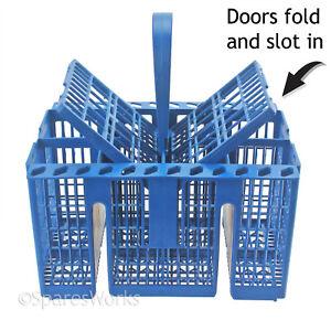 Dishwasher Cutlery Basket Cage Rack for HOTPOINT INDESIT - Handle + Lid Doors