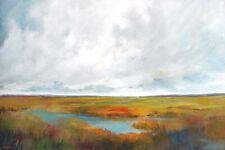 Victoria Jackson: Sunset over the March Keilrahmen-Bild Leinwand Landschaft weit