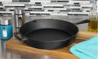 "Cast Iron Skillet 12"" Oven Frying Pan Pot Non Stick Cookware Pre-seasoned Fry"