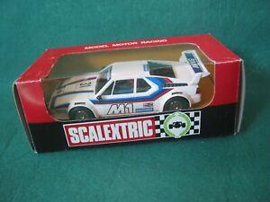 SCALEXTRIC EXIN (SPAIN) 4063 BMW M1   MINT CAR BOX VERY GOOD  FEW SCUFFS