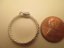 Sterling Silver Ouroboros Ring, Size 9.25