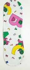 Barney & Friends Burp Cloth White ABC's Reversible Baby Blue Quilted Handmade