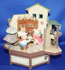 RARE Enesco Dry Gulch Saloon Cowboy & Bad Men Mice Multi-Action Music Box