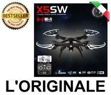 DRONE QUADRICOTTERO RADIOCOMANDATO SYMA X5SW 4CH WiFi CAMERA VIDEO HD FOTO - LED