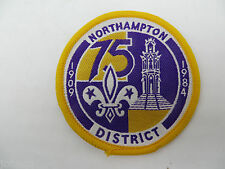 Boy Scout UK England Northampton District 1984 Embroidered Patch
