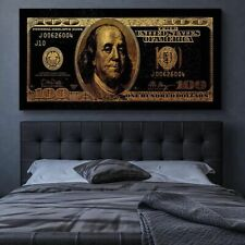 Gold Dollar Canvas Wall Art Love Money Funny Posters Home Oil Paint Decoration