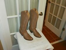 Nocona Women's Tall Peanut Leather Western Boots Style 6617A Size 7.5 B USA made