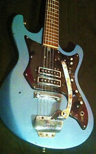 60er El.Guitar Teisco-Kawai EG 202T in lake placid blue mit Framus Saiten