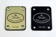 Fender Special Edition Guitar Neck Plate - Engraved in your choice of 8 colors