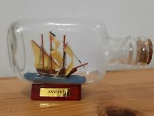 Ship in a bottle, Wooden Boat, Nautical Sailors Men Decor Gift Collection