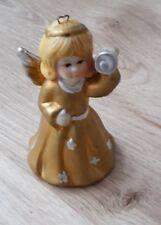 Keramik -Engelchen mit Glöckchen weihnachtlich- Deko  8 cm