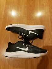 Nike Flex 2018 RN Size 7 Black White Athletic Running Women's Shoes