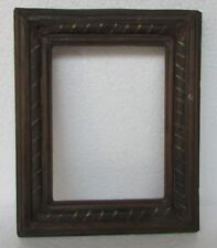 Vintage Old Iron Brass Fitted Picture Photo Frame Wooden Collectible Art