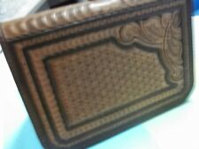 """#317 MEDIUM SQUARE """"HONEYCOMB"""" PISTOL CASE Made by BLUEHORN CUSTOM LEATHER"""