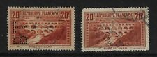 France: 1929; Scott 254A, 2 used, 1 perforated cancellation, EBFR010