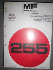 Massey Ferguson tracteur 255 : catalogue pièces 1976