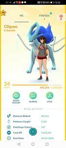 Pokémon Go Account Ptc Shiny suicune Shiny kyogre Shiny latios Shiny moltres