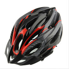 Cycling Bicycle Adult Mens Bike Helmet Red carbon color With Visor Mountain E5T