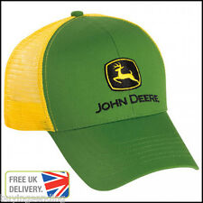 UK SELLER BRAND NEW GENUINE JOHN DEERE GREEN YELLOW TRUCKER MESH CAP TRACTOR HAT