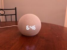 Amazon Echo Dot (4th Generation) Smart Speaker With Clock - Glacier White