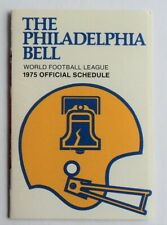 1975 Philadelphia Bell WFL Football League Schedule  - FLASH SALE