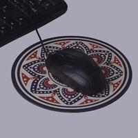 Vintage bohemian round computer 3d game carpet mouse pad mat anti slip mouse Jz