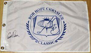 Arnold Palmer Signed BOB HOPE CHRYSLER CLASSIC Flag -  COA