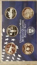 1999-S United States Mint CLAD PROOF SET, U.S. Quarters, Set of 9-coins
