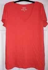orange v neck t shirt size 12
