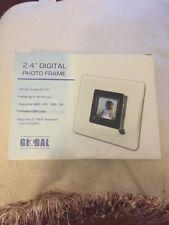 Global 2.4 inch Digital Photo Frame 5 x 7 Acrylic Frame Holds up To 60 Photos