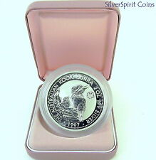 1997 2oz KOOKABURRA SILVER Coin in Case Crown Privy